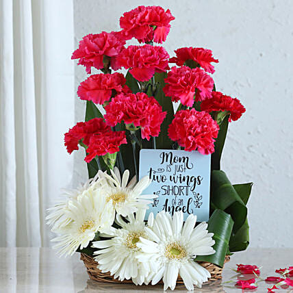 Say Love You Mom With Flower Arrangement