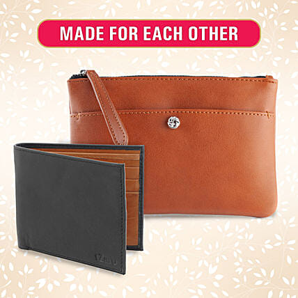 Made for Each Other Wallet And Clutch Set