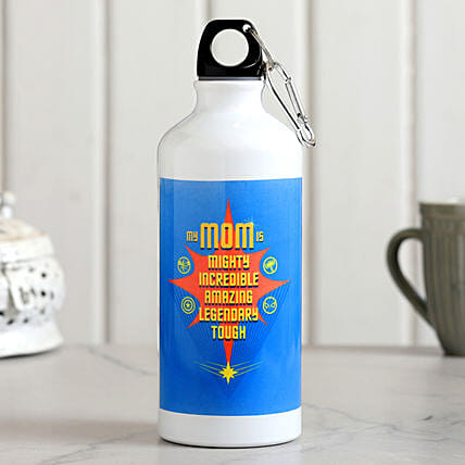 Incredible Mom Printed Water Bottle Hand Delivery:Best Gift For Mother In Law