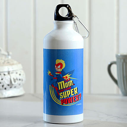 Mom Super Power Printed Water Bottle Hand Delivery