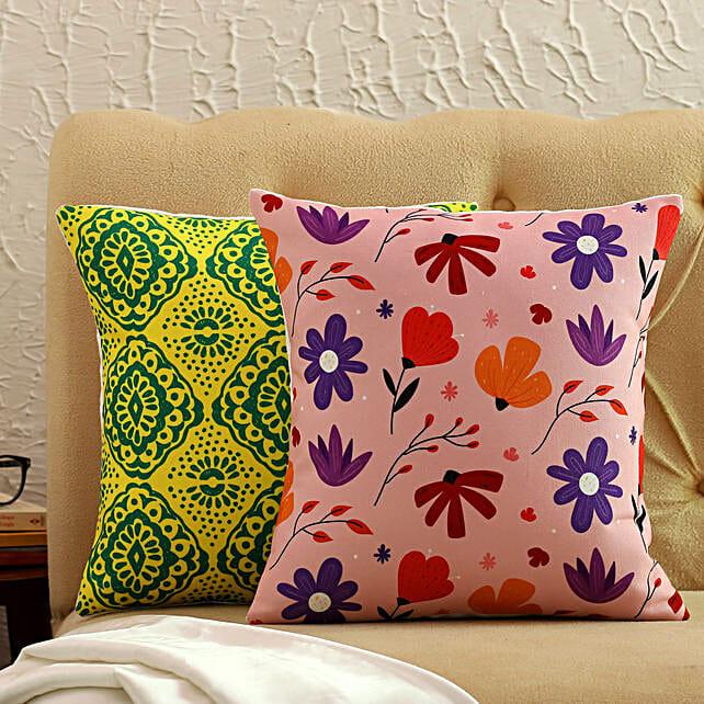 Beautiful Printed Cushion Cover Set Of 2:Buy Cushions