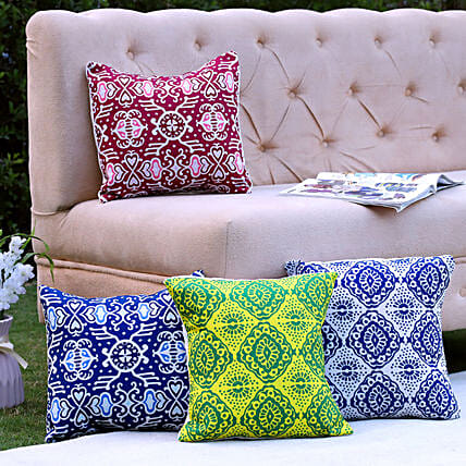 Colourful Cushion Covers Set Of 4