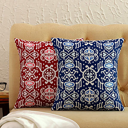 Set Of 2 Beautiful Printed Cushion Covers
