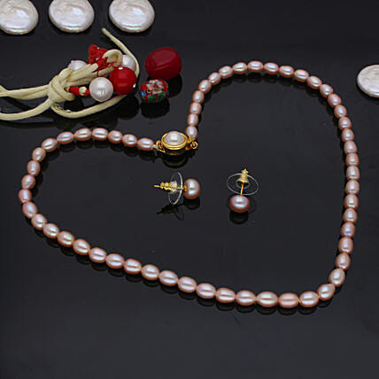 Single Line Pearl Set:Send Jewellery Gifts