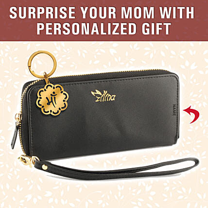 Personalised Mothers Day Theme Wallet Keychain