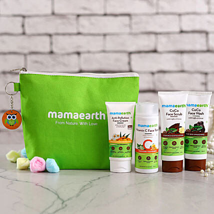 MamaEarth Anti Pollution Kit:Send Cosmetics & Spa Hampers