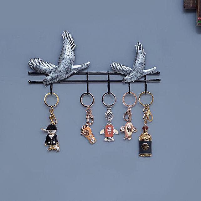 Iron Birds Style Wall Hanging Key Holder