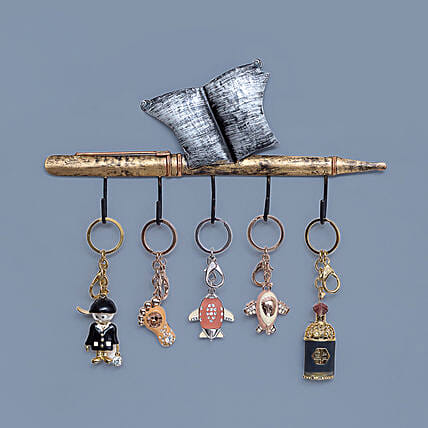 Iron Pen Book Style Wall Hanging Key Holder