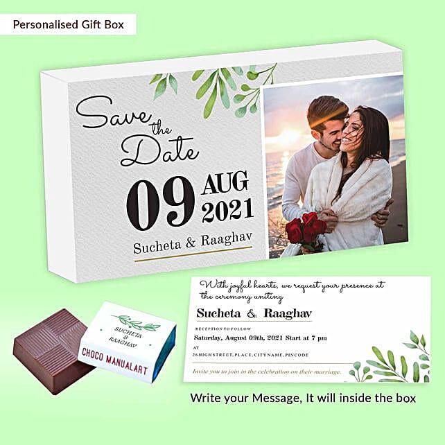 Personalised Wedding Invitation Chocolate Box