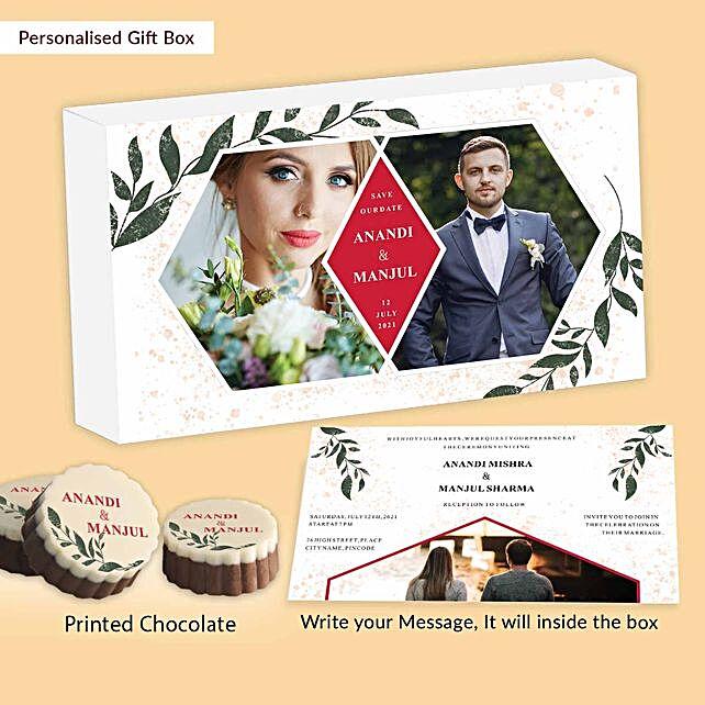 Personalised Wedding Invitation Chocolates:Personalised Chocolates for Him