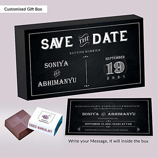 Personalised Wedding Invitation Licious Chocolates:Personalised Chocolates for Him