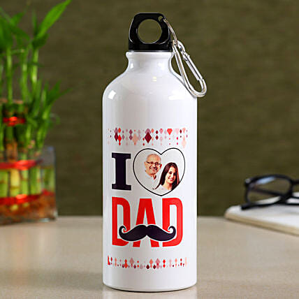 Personalised I Love Dad Bottle- Hand Delivery:Personalized Fathers Day Gifts