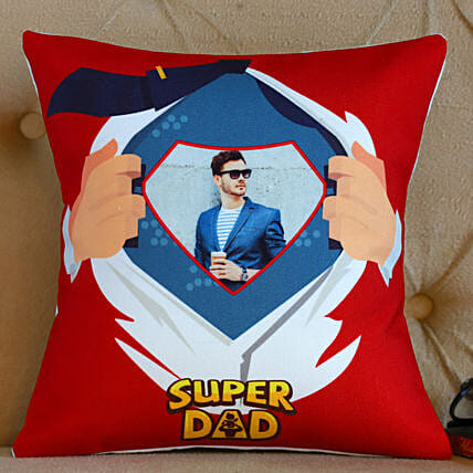 Personalised Super Dad Cushion- Hand Delivery
