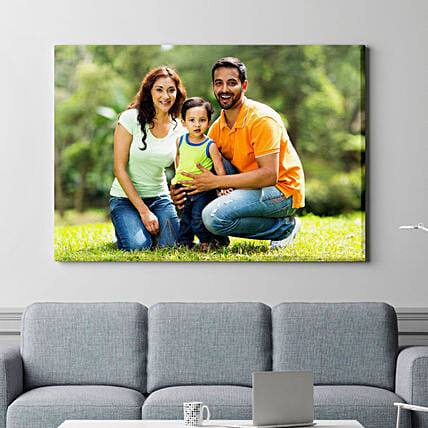 Personalised Priceless Memories Landscape Canvas Frame
