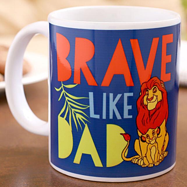 Disney Brave Like Dad Printed Mug Hand Delivery:Fathers Day Mugs