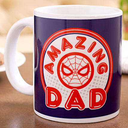 Marvel Amazing Dad Printed Mug Hand Delivery:Fathers Day Mugs