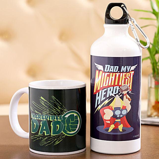 Marvel Incredible Dad Bottle Mug Hand Delivery