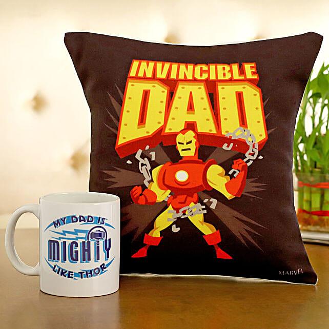 Marvel Invincible Dad Cushion Mug Hand Delivery