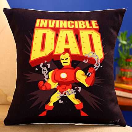 Marvel Invincible Dad Printed Cushion Hand Delivery:Fathers Day Cushion