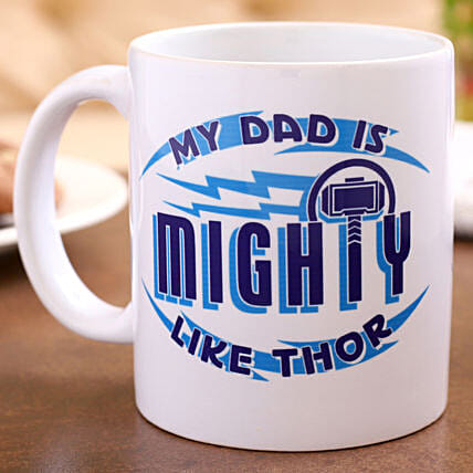 Marvel My Dad Is Mighty Like Thor Mug Hand Delivery