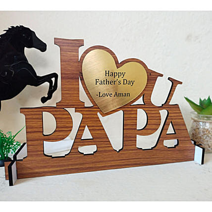 Personalised I Love You Papa Table Top:Fathers Day Photo Frames