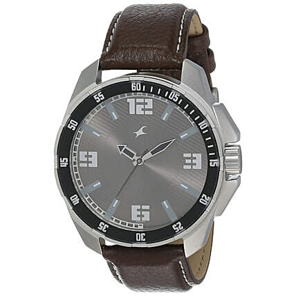Fastrack Analog Grey Dial Mens Watch