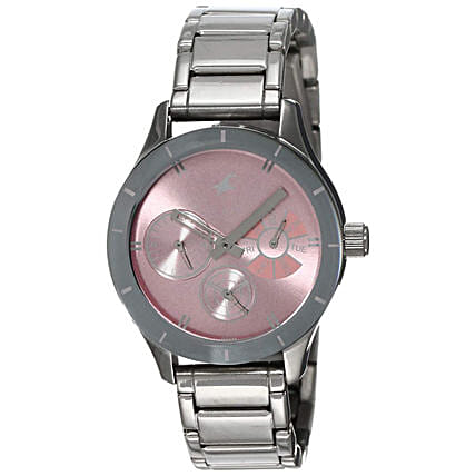 Fastrack Analog Pink Dial Womens Watch
