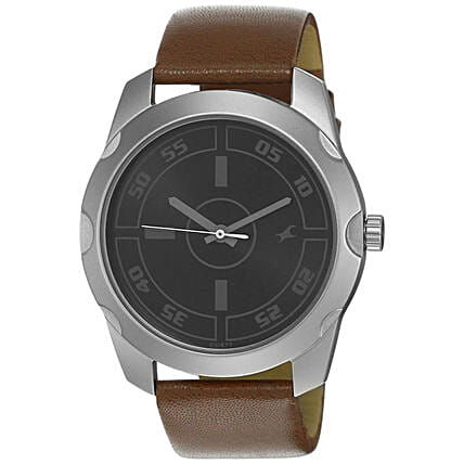 Fastrack Casual Analog Black Dial Mens Watch