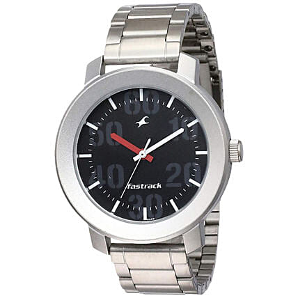 Fastrack Casual Analog Silver Strap Mens Watch