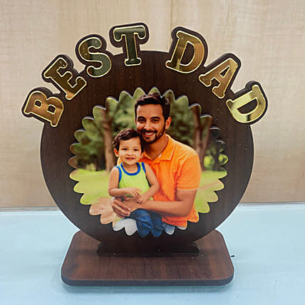 Personalised Best Dad Wooden Table Top