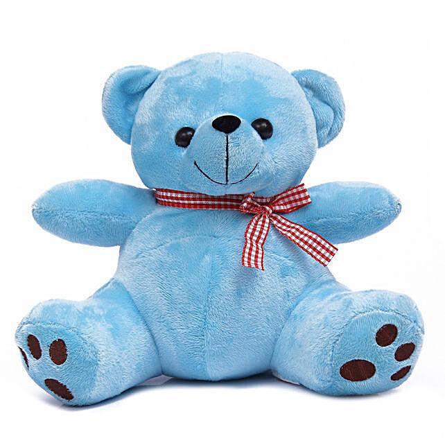 Cute & Cuddly Blue Poppy Teddy Bear