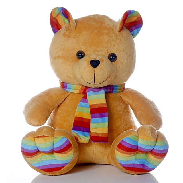 Cute & Cuddly Brown Muffler Teddy Bear