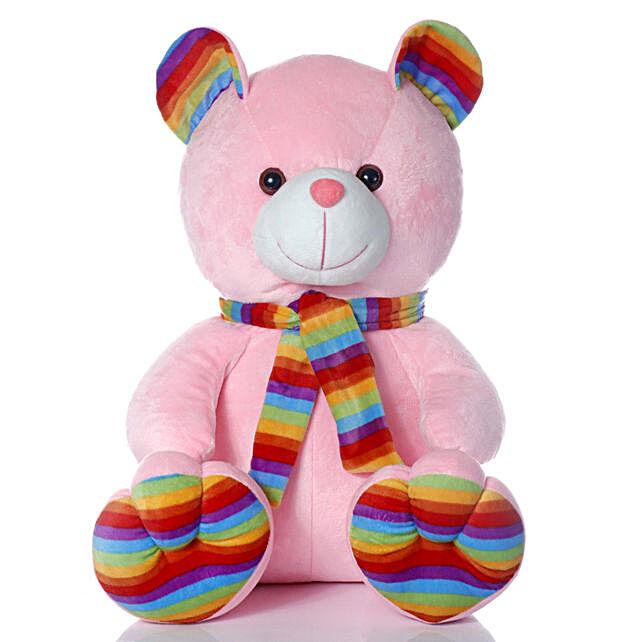 Cute & Cuddly Pink Muffler Teddy Bear:Soft Toy