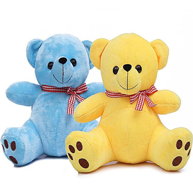 Poppy Teddy Bear Combo Blue Yellow
