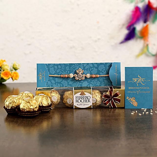 Holy Ganesha Rakhi N Ferrero Rocher:Ganesha Rakhi