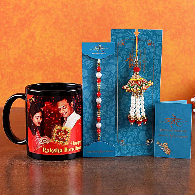 Online Bhaiya Bhabhi Rakhi with Mug:Send Rakhi with Mugs