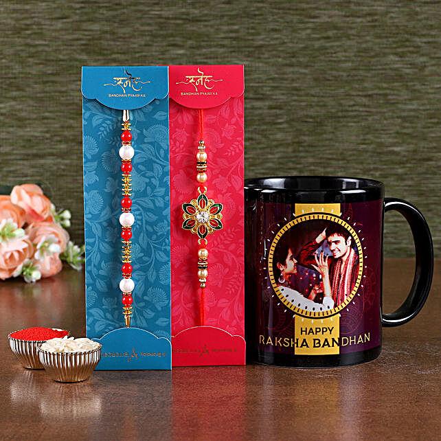 Online Rakhis Set with Mug For Family:Rakhi With Mugs
