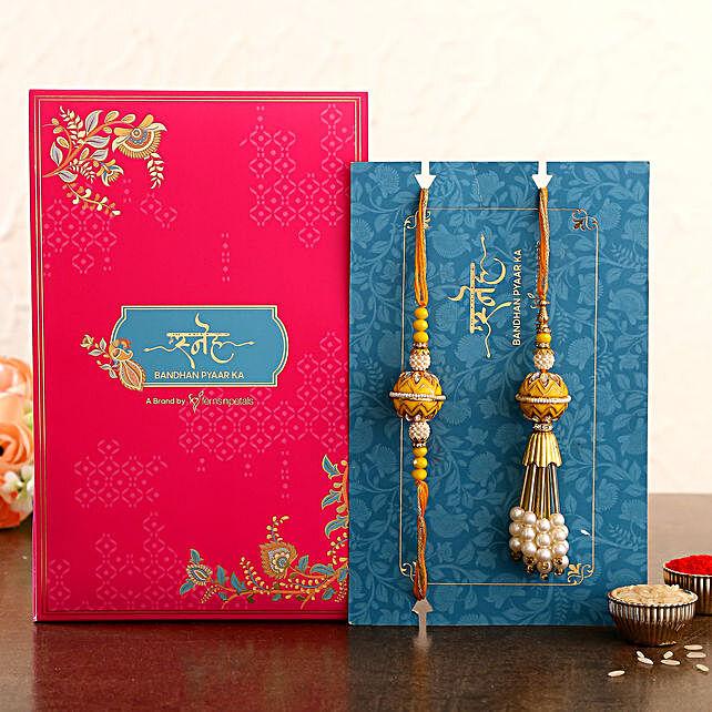 Bhaiya Bhabhi Set of 2 Vibrant Rakhi