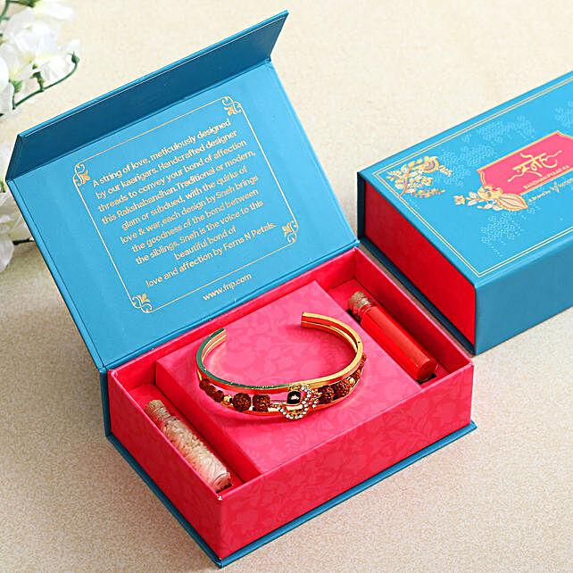 Om Ornate Bracelet Rakhi