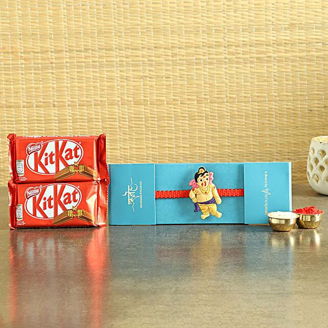 Ganesha Kids Rakhi & Chocolates- Hand Delivery