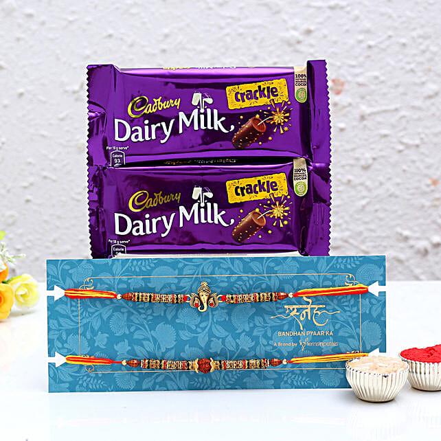 Ethnic Rakhi Set & Chocolates- Hand Delivery