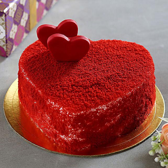 Sweet Red Heart Velvet Cake