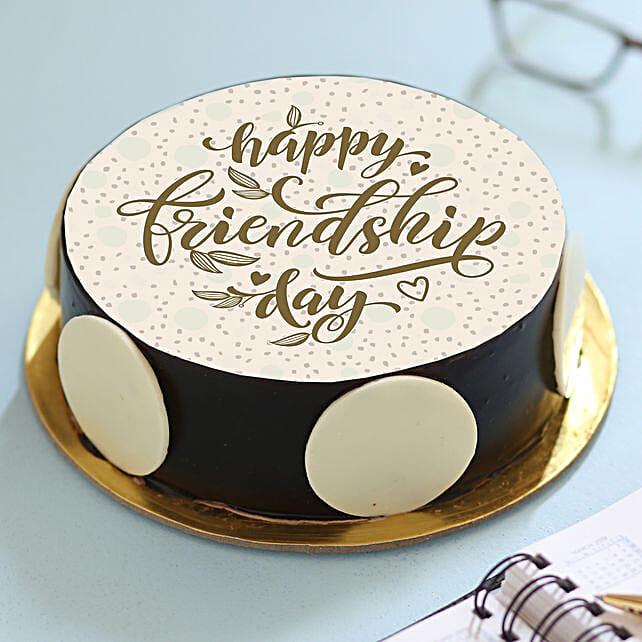 Happy Friendship Day Chocolate Cake