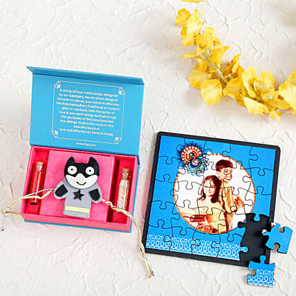 Cute Rakhi and Personalised Photo Puzzle:Personalised Toy-n-games