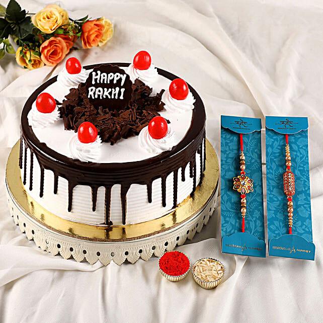 Set of 2 Rakhi N Black Forest Cake