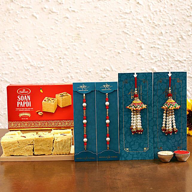 best bahiya bhabhi rakhi with sweet combo:Rakhi With Sweets Bengaluru