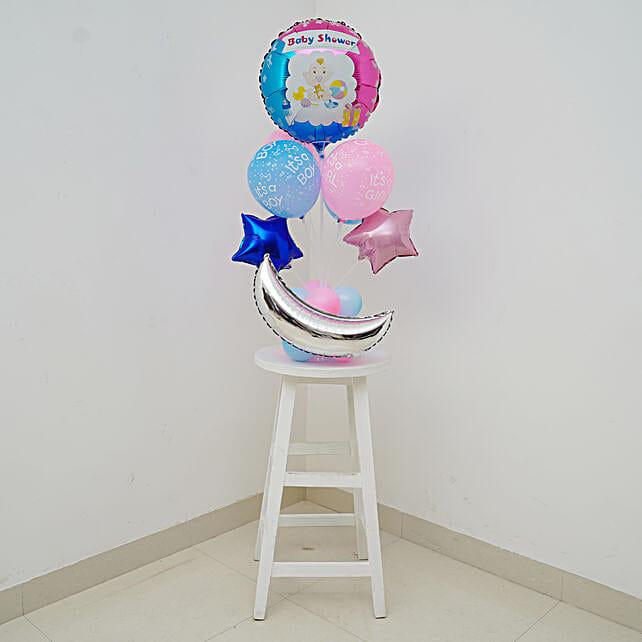 Blue & Pink Baby Shower Balloon Bouquet