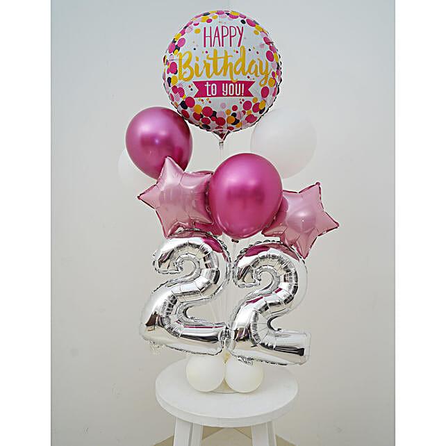 Happy 22th Birthday Balloon Bouquet