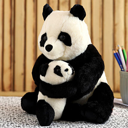 Wild Republic Mom And Baby Panda Soft Toy:Soft Toys