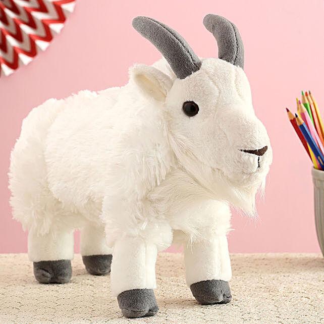 Wild Republic White Plush Mountain Goat Soft Toy:Soft Toys